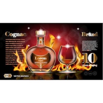 Cognac background design