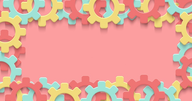 Cogs gear colorful art background. technology clipart