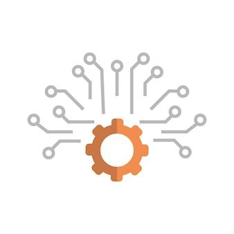 Cogwheel icon media social communication connection