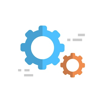 Cogwheel icon technical service support technology