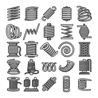Coil icons set