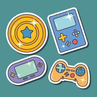 コインとポータブルビデオゲームセット