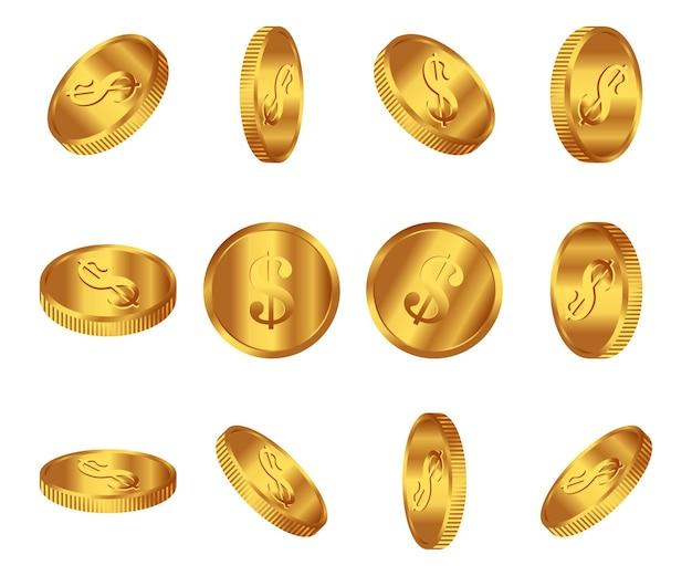 Набор иллюстраций монеты