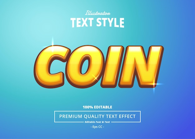 Coin illustrator text effect