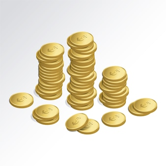 Coins design background