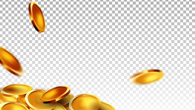 Coins money saving and counting wealth vector