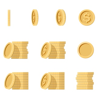 Coins stack illustration