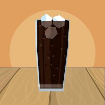 Coke glass cartoon