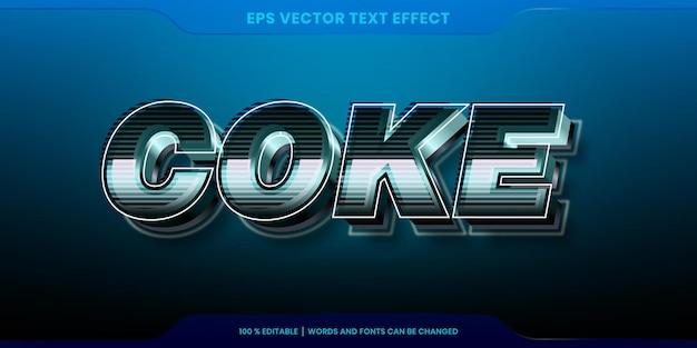 Кока-кола слова, редактируемая концепция 3d текстовый эффект
