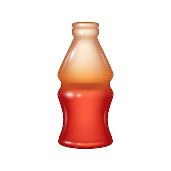 Cola bottle jelly candy icon.