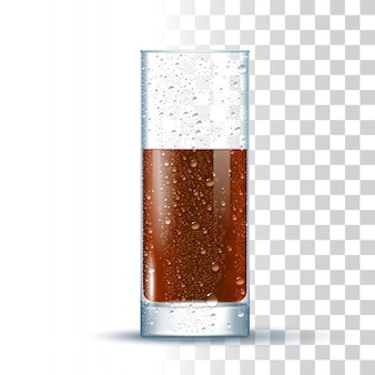 Cola slightly glass