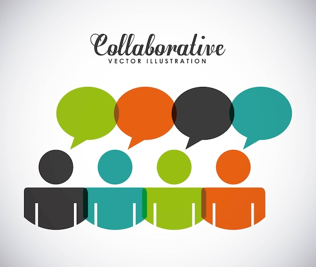 Colaborative people design、ベクトルイラストeps10グラフィック