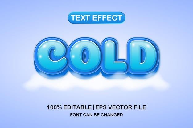 차가운 3d 편집 가능한 텍스트 효과
