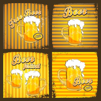 Cold beer theme graphic