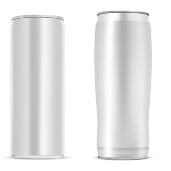 Cold beverage aluminum silver metal tin blank