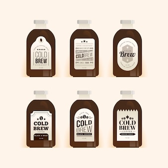Cold brew coffee labels pack