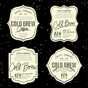 Cold brew coffee labels style