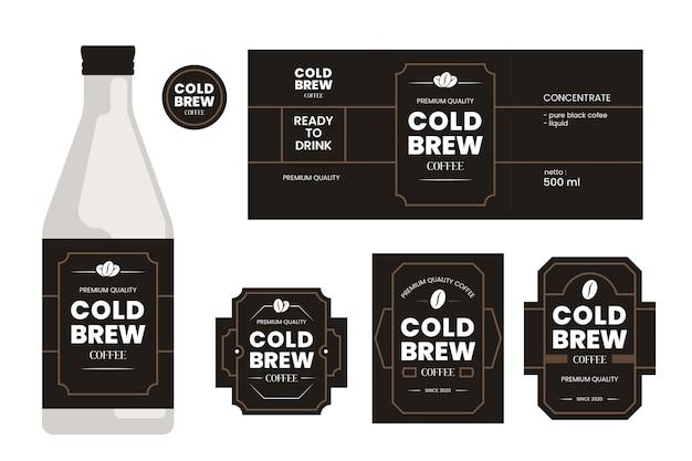 冷たいコーヒーのラベル