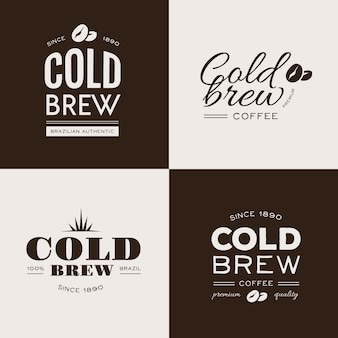 Cold brew coffee logos