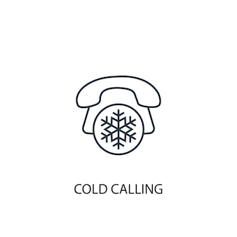 콜드 콜 개념 라인 아이콘입니다. 간단한 요소 그림입니다. 콜드 콜 개념 개요 기호 디자인입니다. 웹 및 모바일 ui/ux에 사용할 수 있습니다.