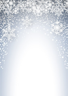 Cold christmas with snowfall and ice crystals