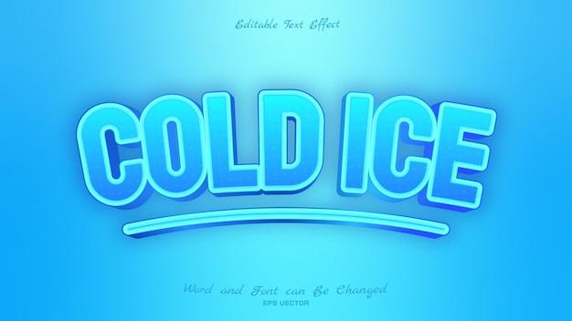 파란색으로 차가운 얼음 텍스트 효과