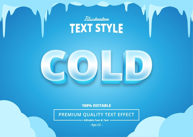 Cold text effect