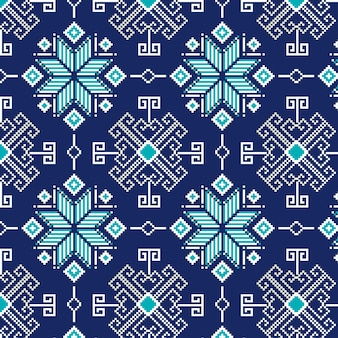 Cold winter snowflakes songket pattern