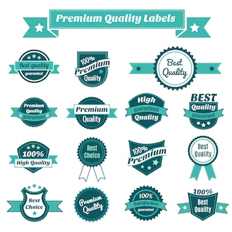 Colección де etiquetas де calidad премии