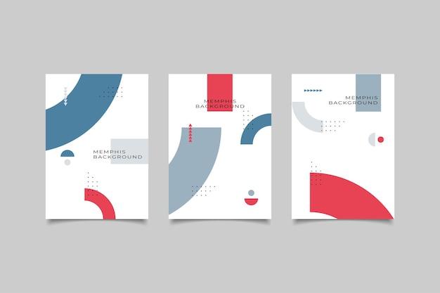 Коллекция мемфис дизайн обложки