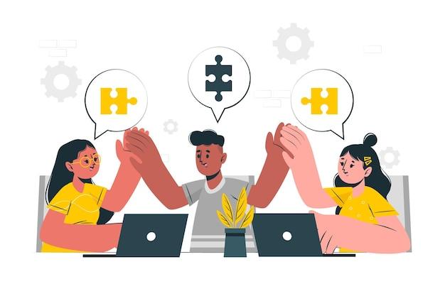 Collab concept illustration