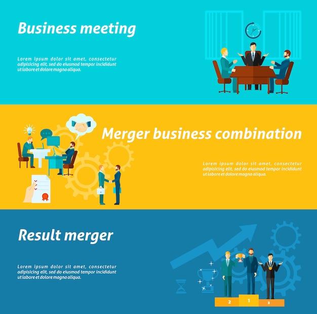 Set di banner di collaborazione