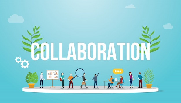 Collaboration business concept with team people
