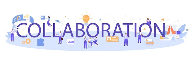 Collaboration typographic header