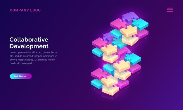 Collaborative development, web template