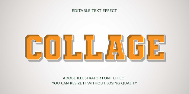 Collage   editable text effect