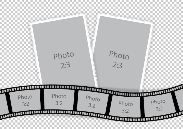 Collage of photo frames from film template ideas