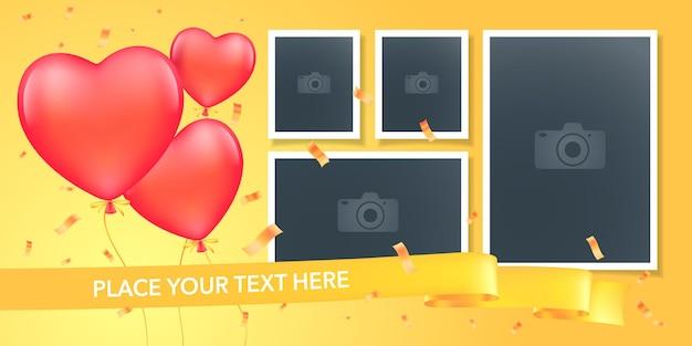 Collage of photo frames illustration.