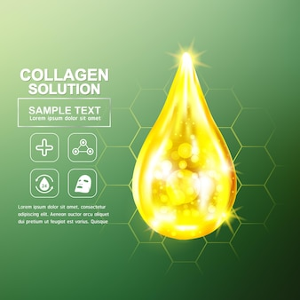 피부 컨셉을위한 콜라겐과 비타민
