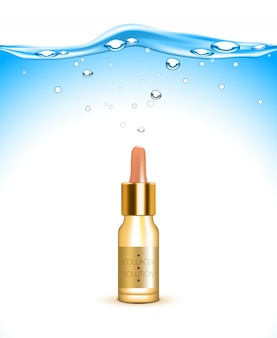 Collagen hydration solution background