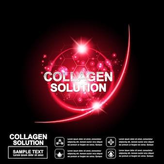 콜라겐 또는 세럼 배경 개념 화장품 용 레이저 복구 피부
