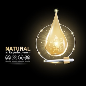 Collagen or serum gold drop vector repair skin for skincare products