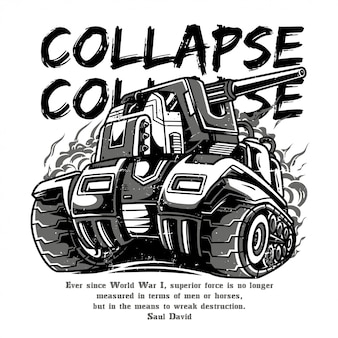 Collapse black and white