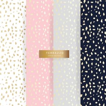 テラッツォスタイルで洗練された抽象的なゴールドとパステルでパターンをスムーズに収集します。
