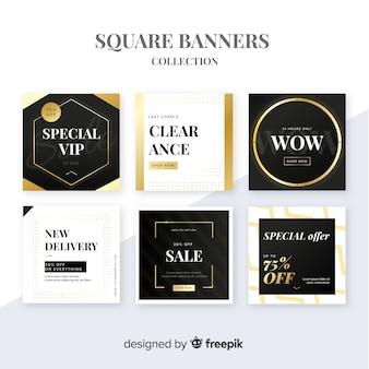 Рекламный квадратный баннер collectio