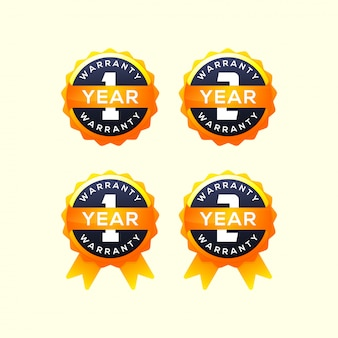Collection of 1 year warranty label