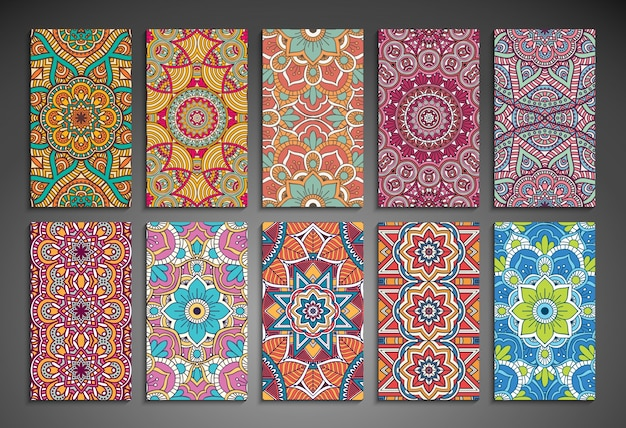 Collection of 10 mandala cards