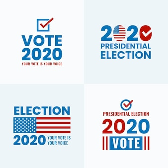 Collection of 2020 us presidential election logos