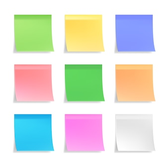 Collection of 3d vector sticky notes
