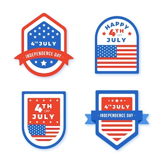 Collection of 4th of july independence day labels
